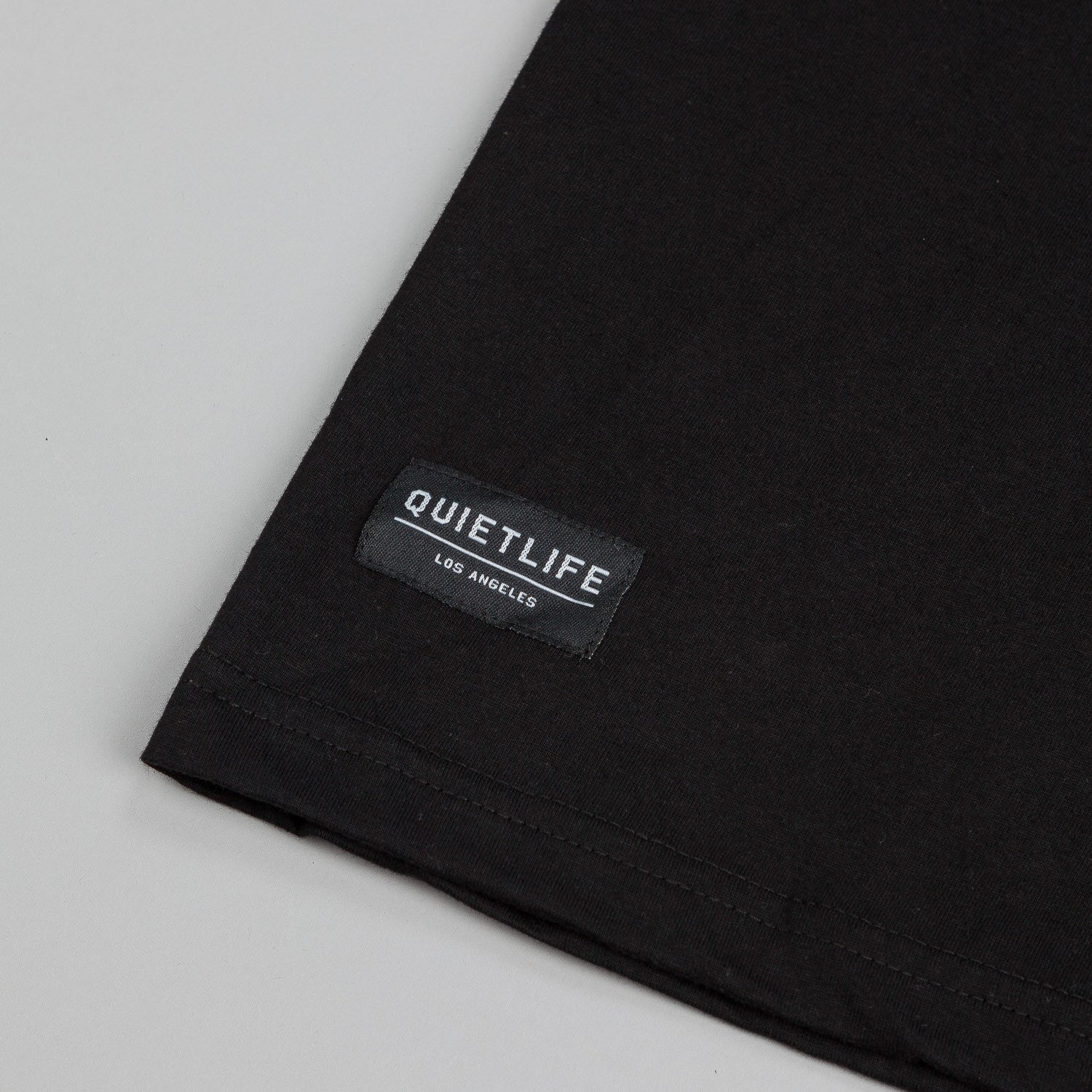 The Quiet Life Mountain Embroidered Pocket T-Shirt - Black