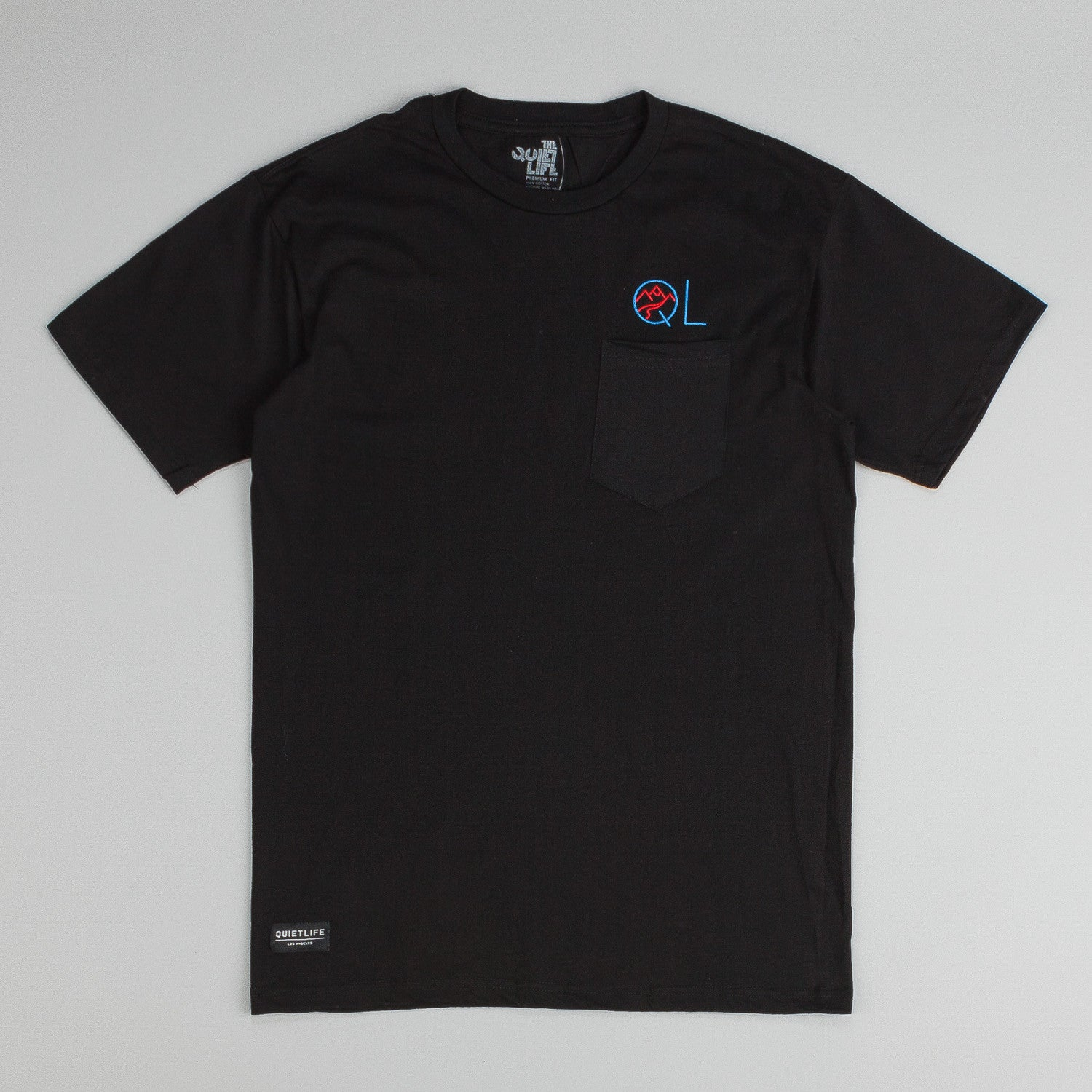 The Quiet Life Mountain Embroidered Pocket T-Shirt