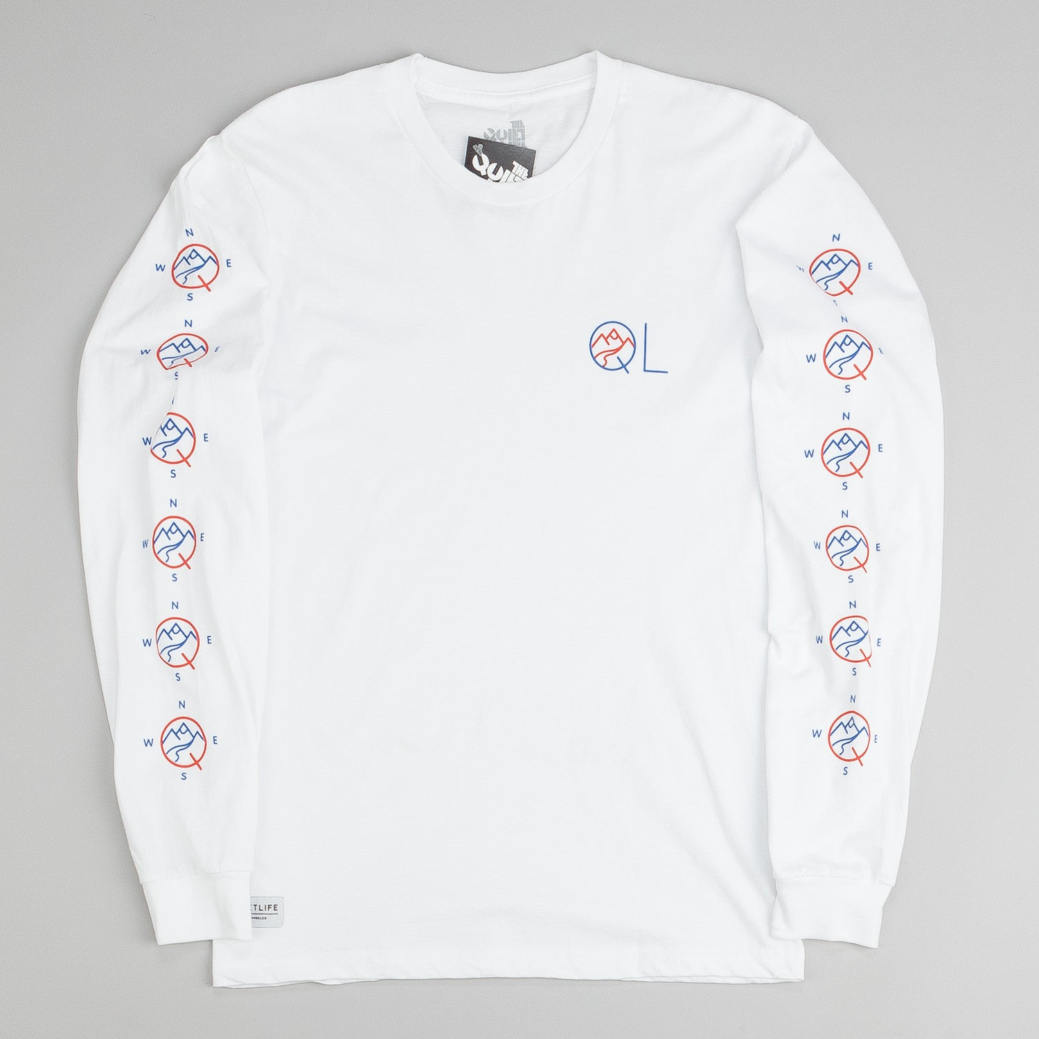 The Quiet Life Mountain L/S T-Shirt - White