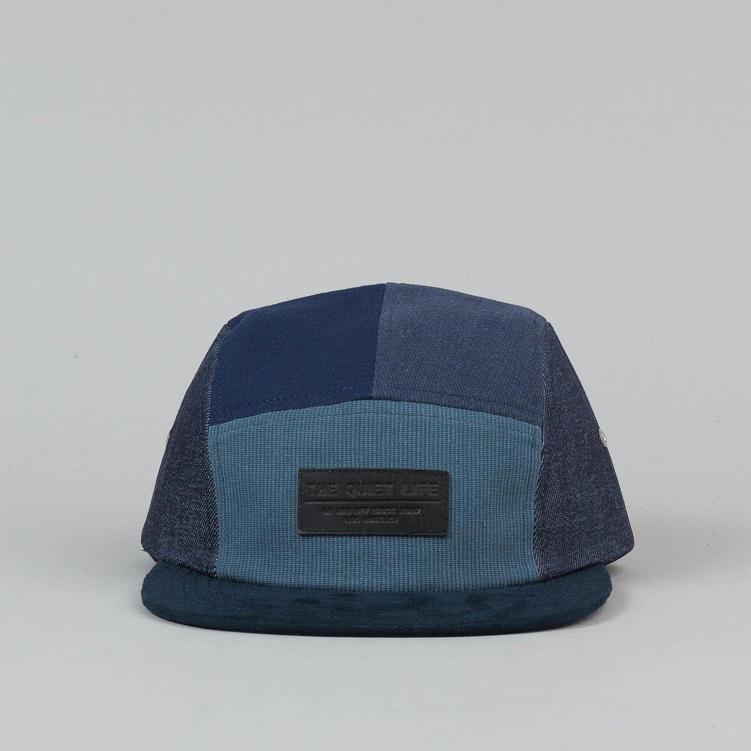 The Quiet Life Multi Panel 5 Panel Cap - Blue