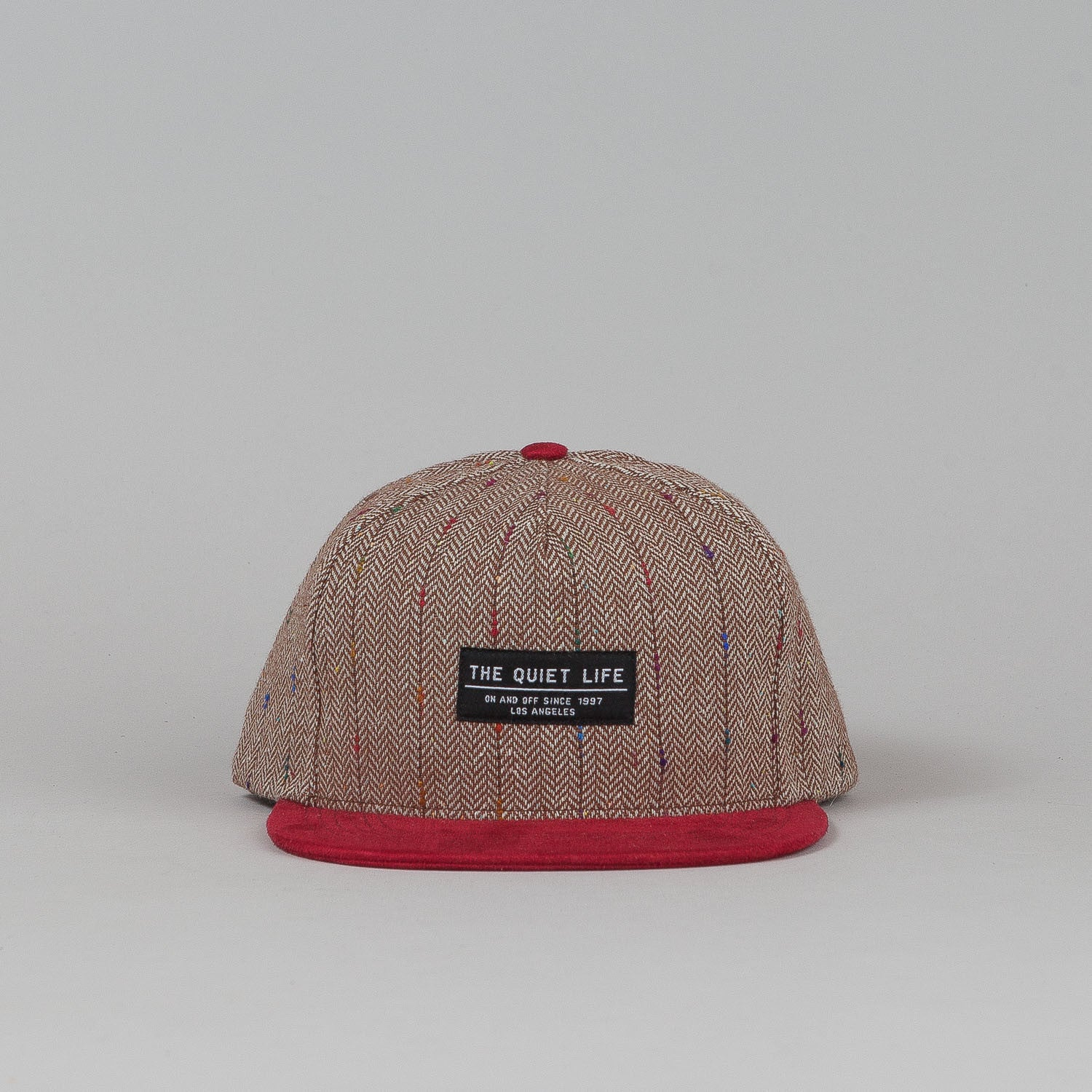 The Quiet Life Murphy Tweed Snapback Cap - Brown