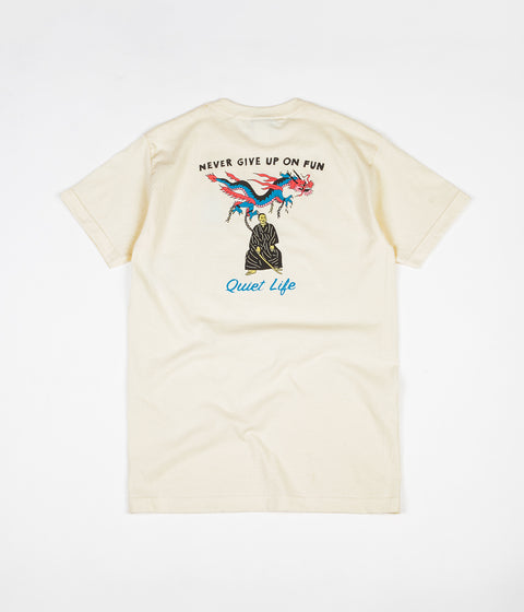 The Quiet Life Never Give Up T-Shirt - Cream