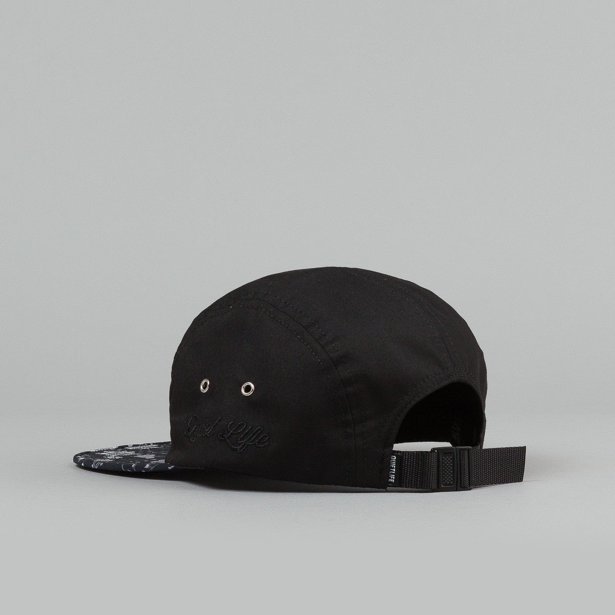 The Quiet Life Nikita 5 Panel Cap - Black