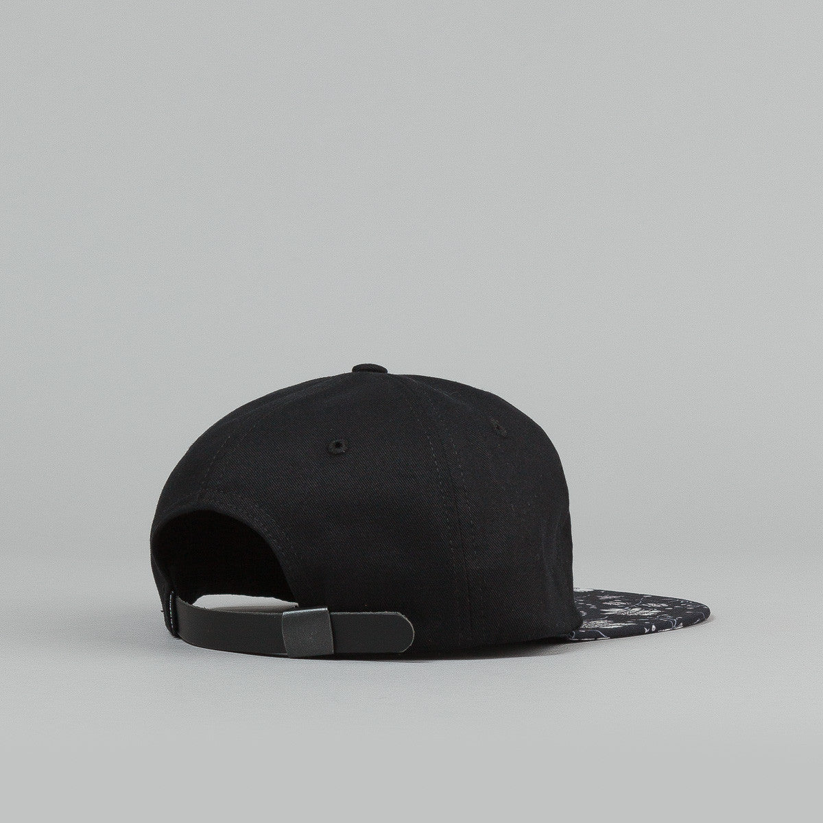 The Quiet Life Nikita Polo Cap - Black Upper / Floral Bill