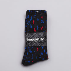 The Quiet Life Notes Socks Black / Blue / Red