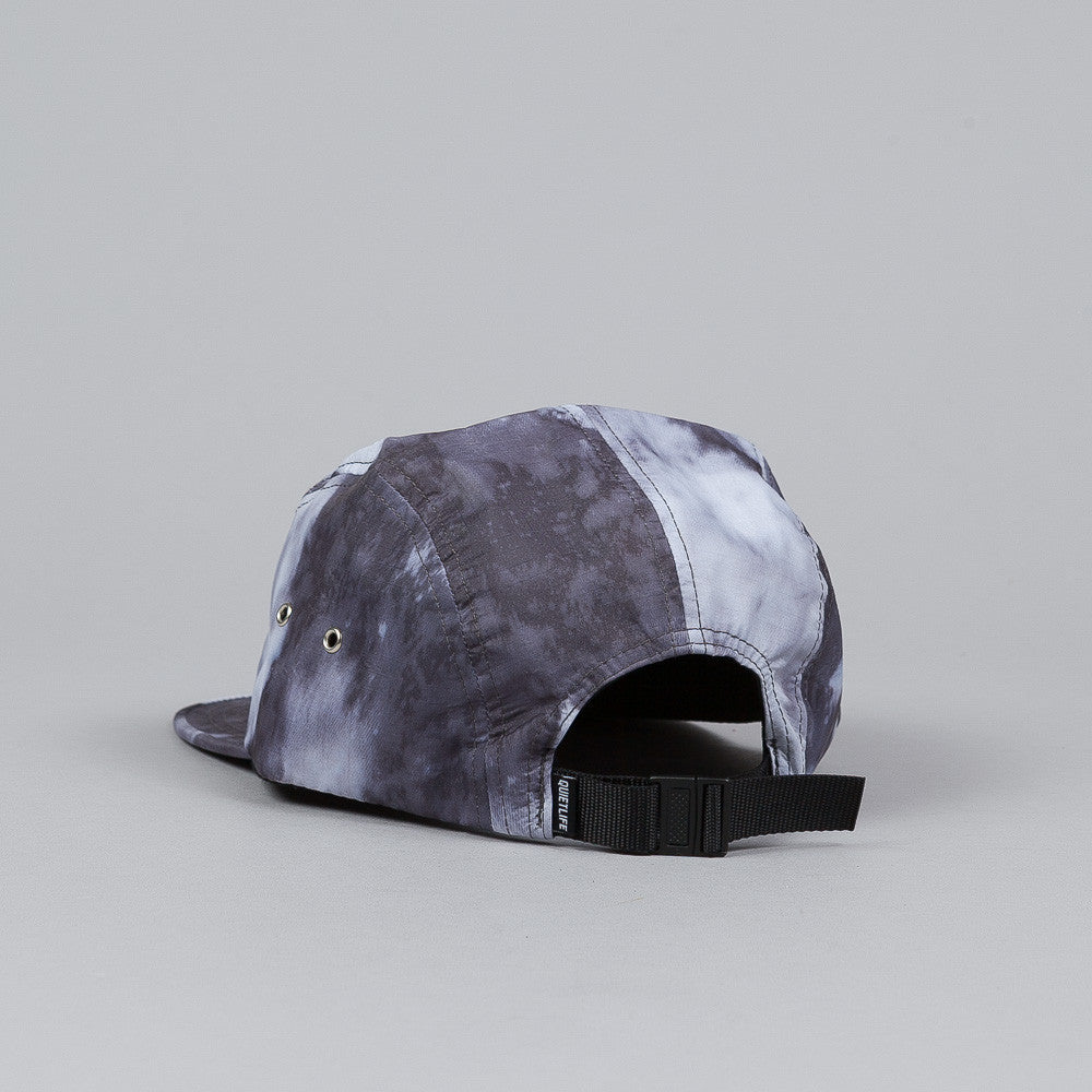 The Quiet Life Nylon Bleach 5 Panel Cap Black
