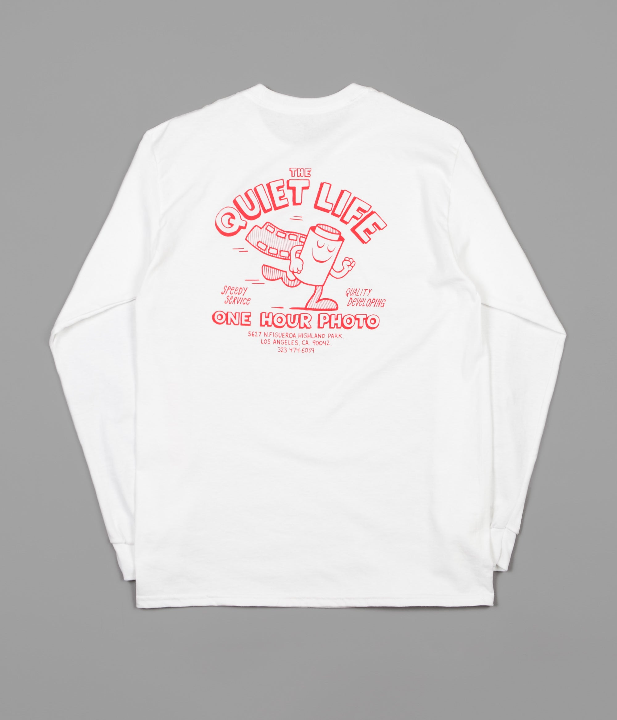 The quiet life one hour photo long sleeve t shirt white for One hour t shirts