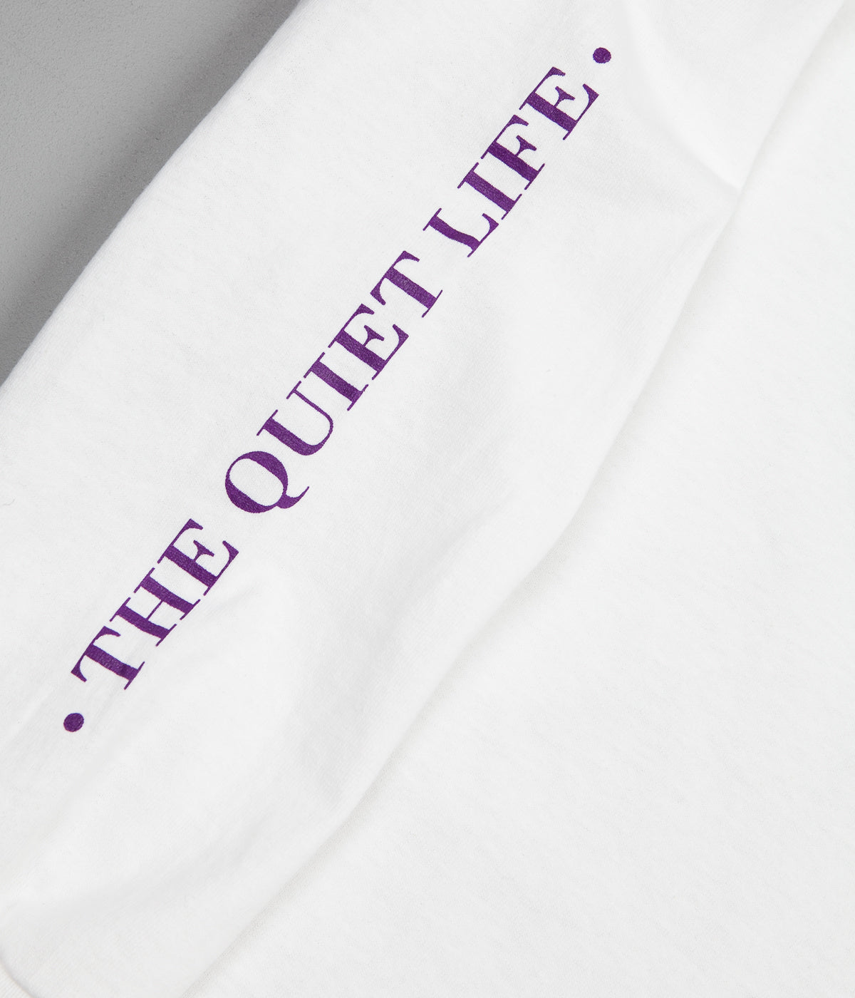 The Quiet Life Optical Long Sleeve T-Shirt - White