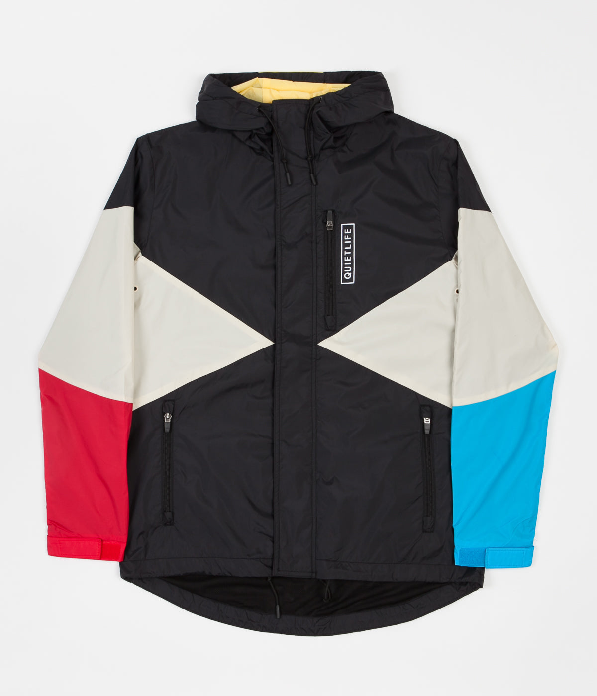 The Quiet Life Pacific Windbreaker Jacket - Black / Red / Blue