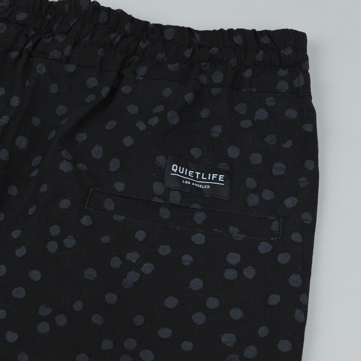 The Quiet Life Painted Dot Beach Shorts - Black