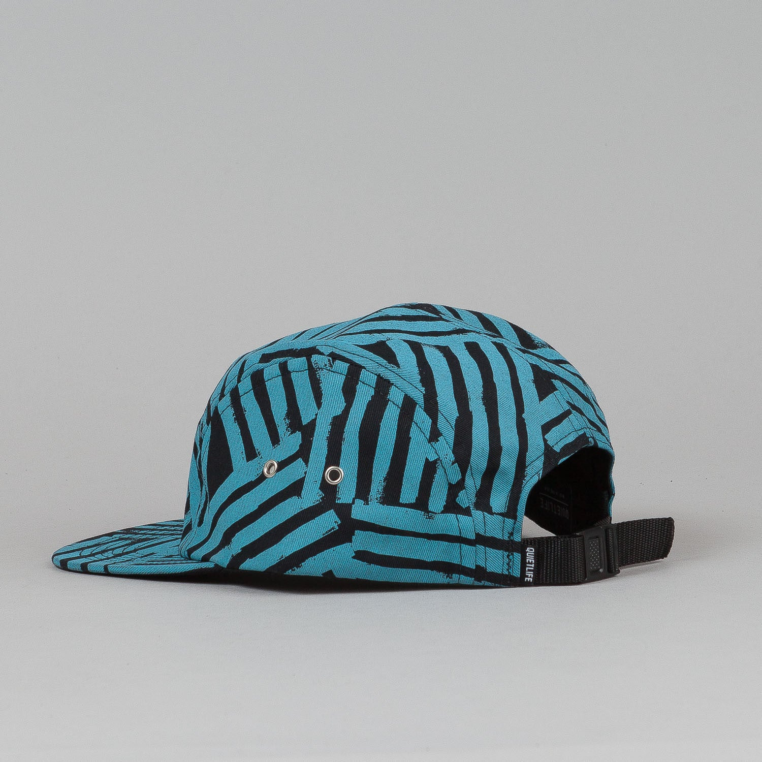 The Quiet Life Painted Lines 5 Panel Cap - Blue / Black