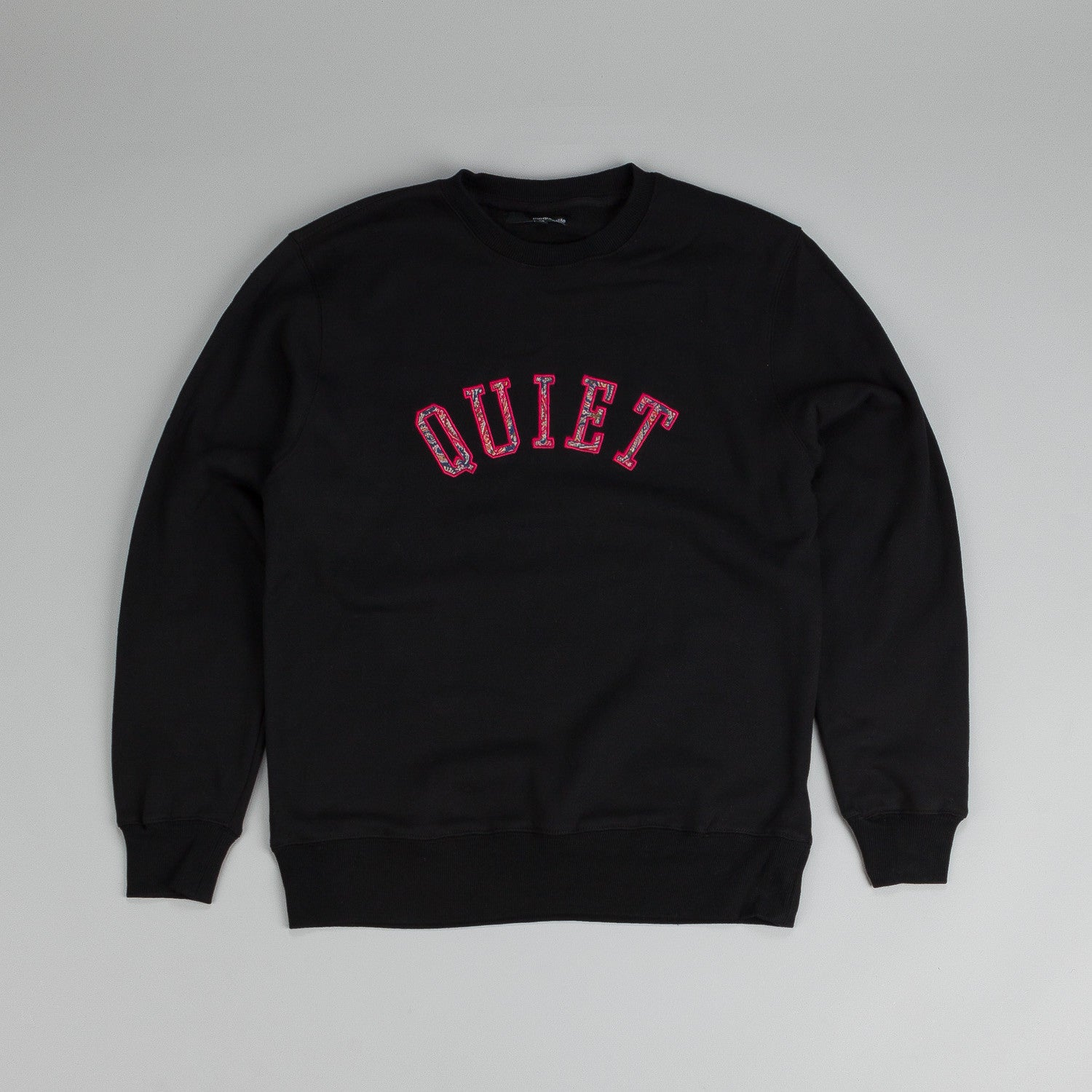 The Quiet Life Paisley Applique Crew Sweatshirt Black