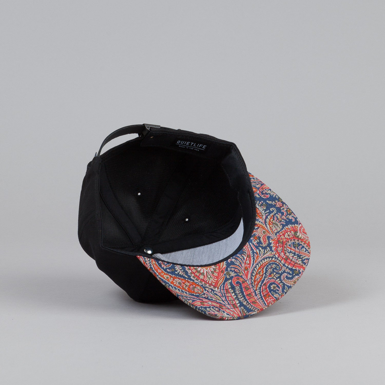 The Quiet Life Paisley Bill Snapback Cap Black