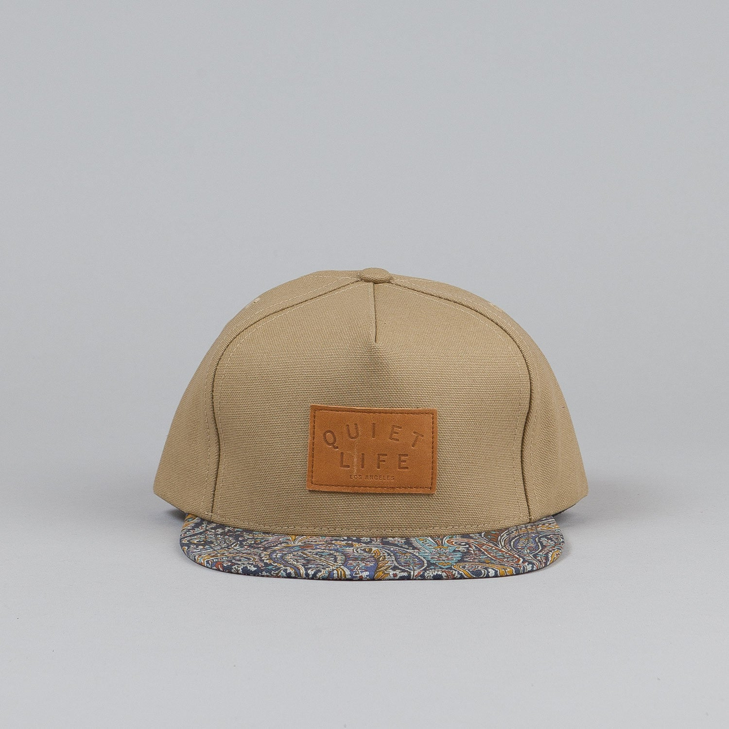 The Quiet Life Paisley Bill Snapback Cap Tan