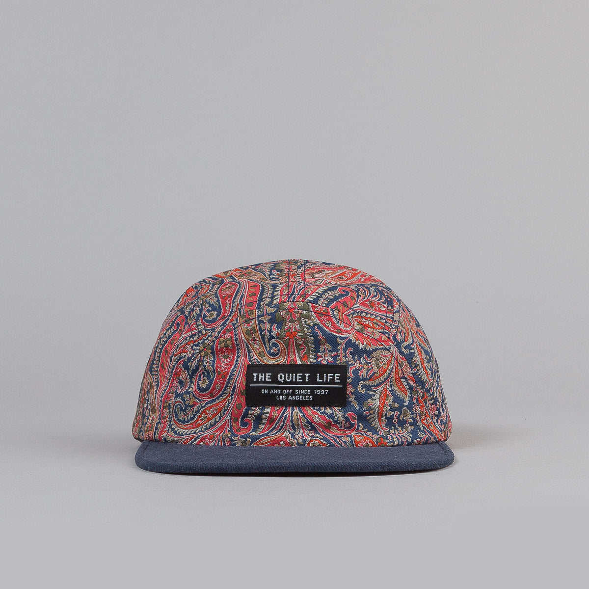 The Quiet Life Paisley Half Moon 5 Panel Cap - Red / Blue