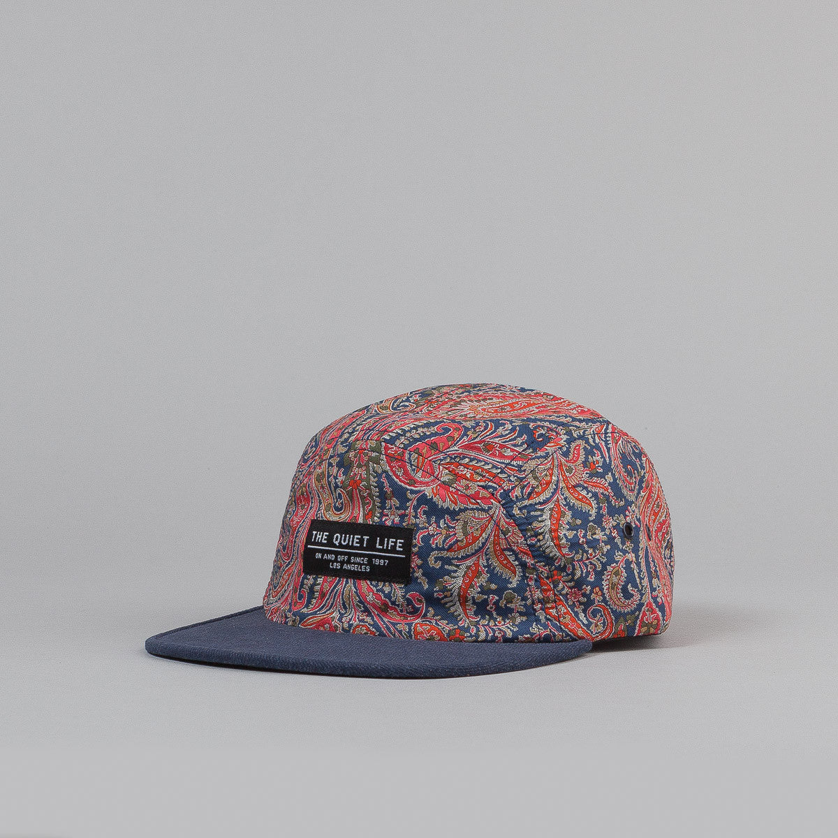 The Quiet Life Paisley Half Moon 5 Panel Cap Red / Blue
