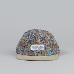 The Quiet Life Paisley Half Moon 5 Panel Cap Tan / Grey
