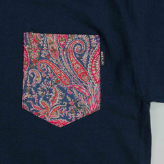 The Quiet Life Paisley Pocket T Shirt Navy