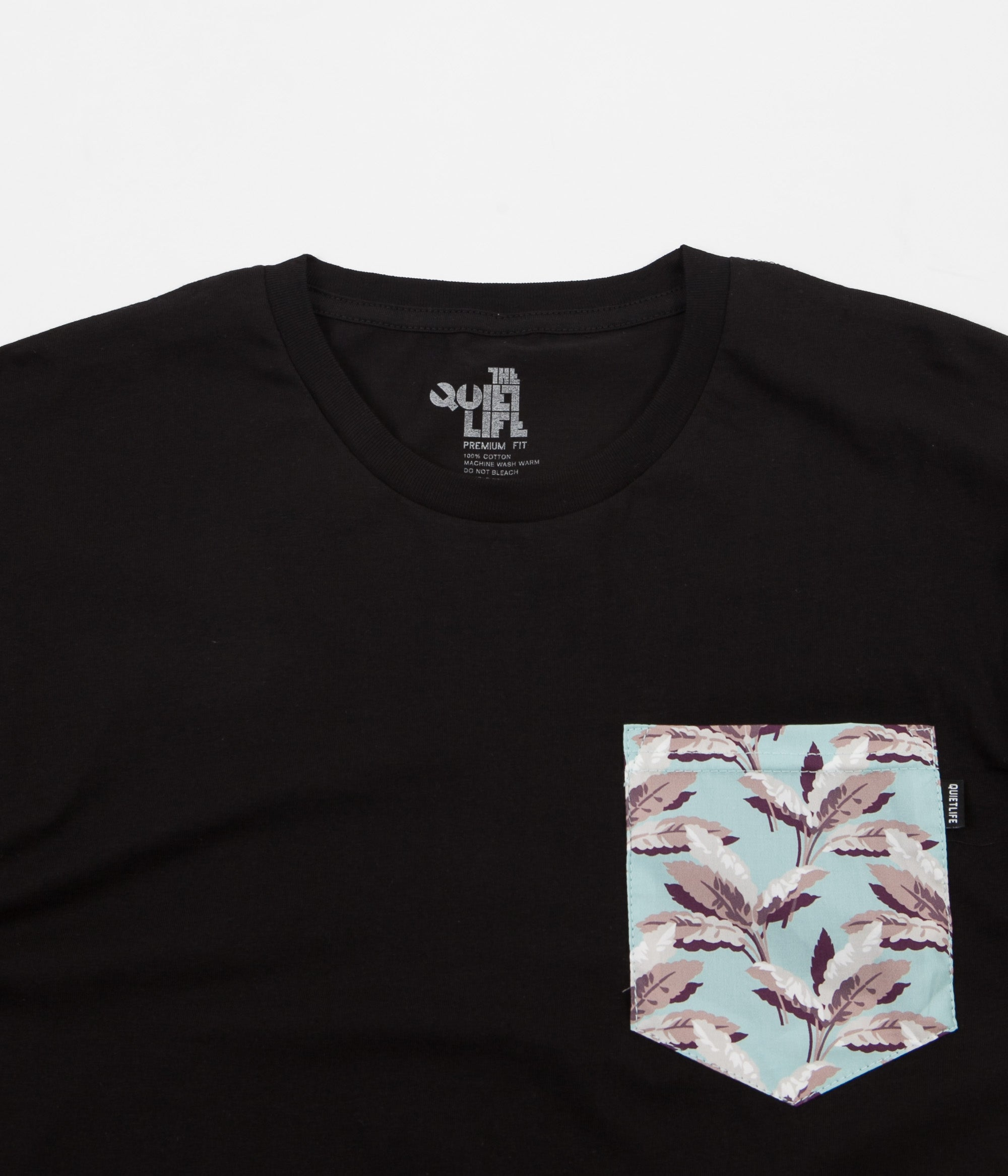 The Quiet Life Palm Pocket Premium T-Shirt - Black