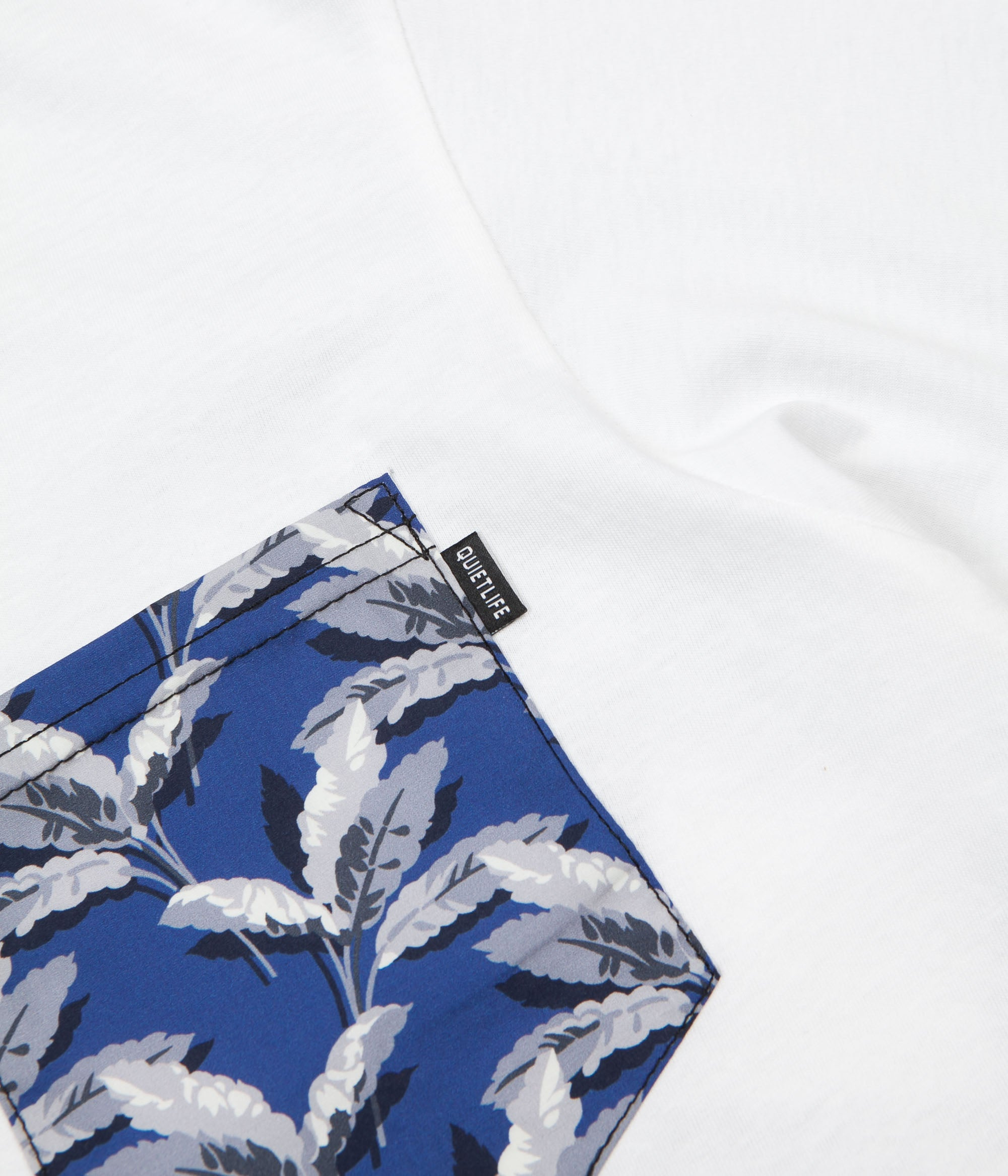 The Quiet Life Palm Pocket Premium T-Shirt - White