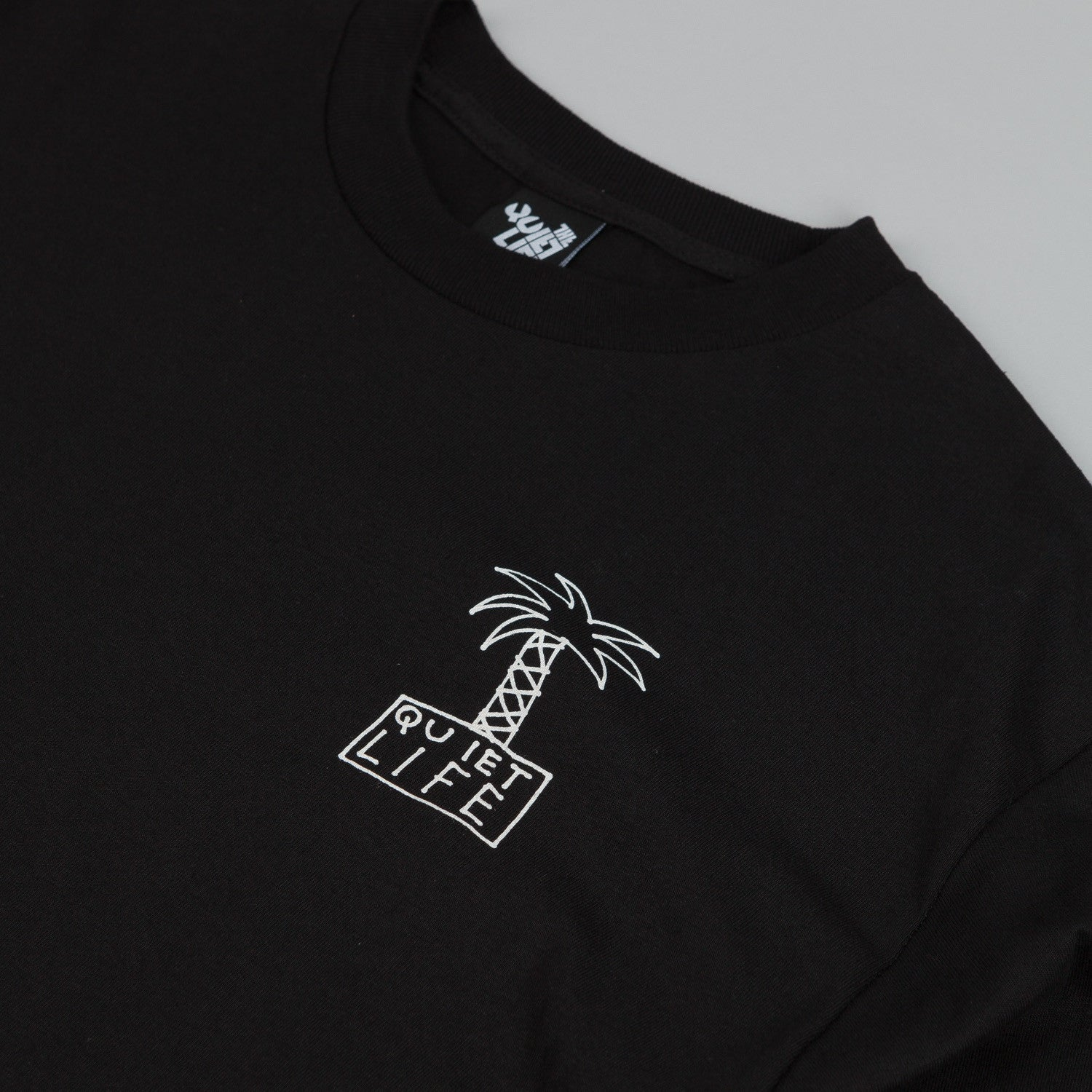 The Quiet Life Palm Trees L/S T Shirt Black