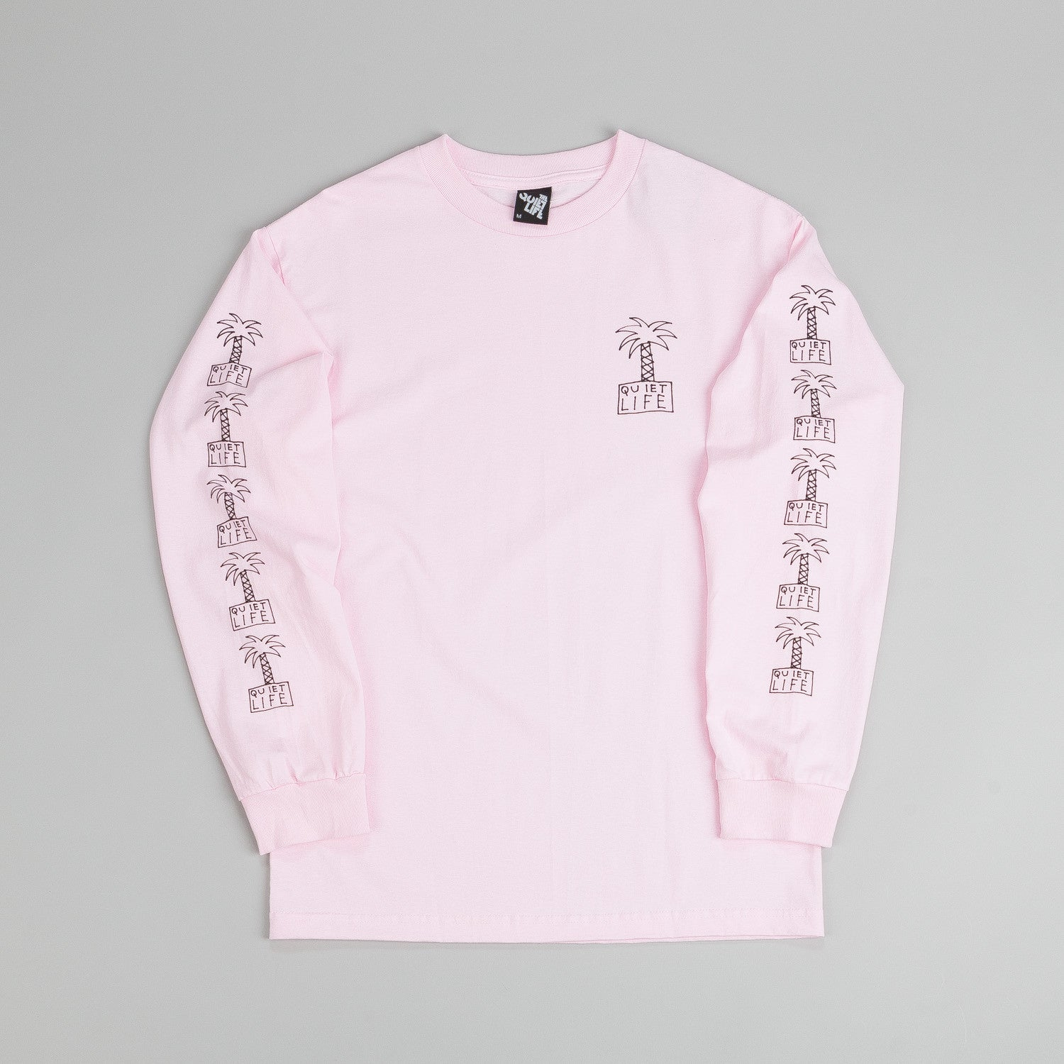 The Quiet Life Palm Trees L/S T Shirt Pink