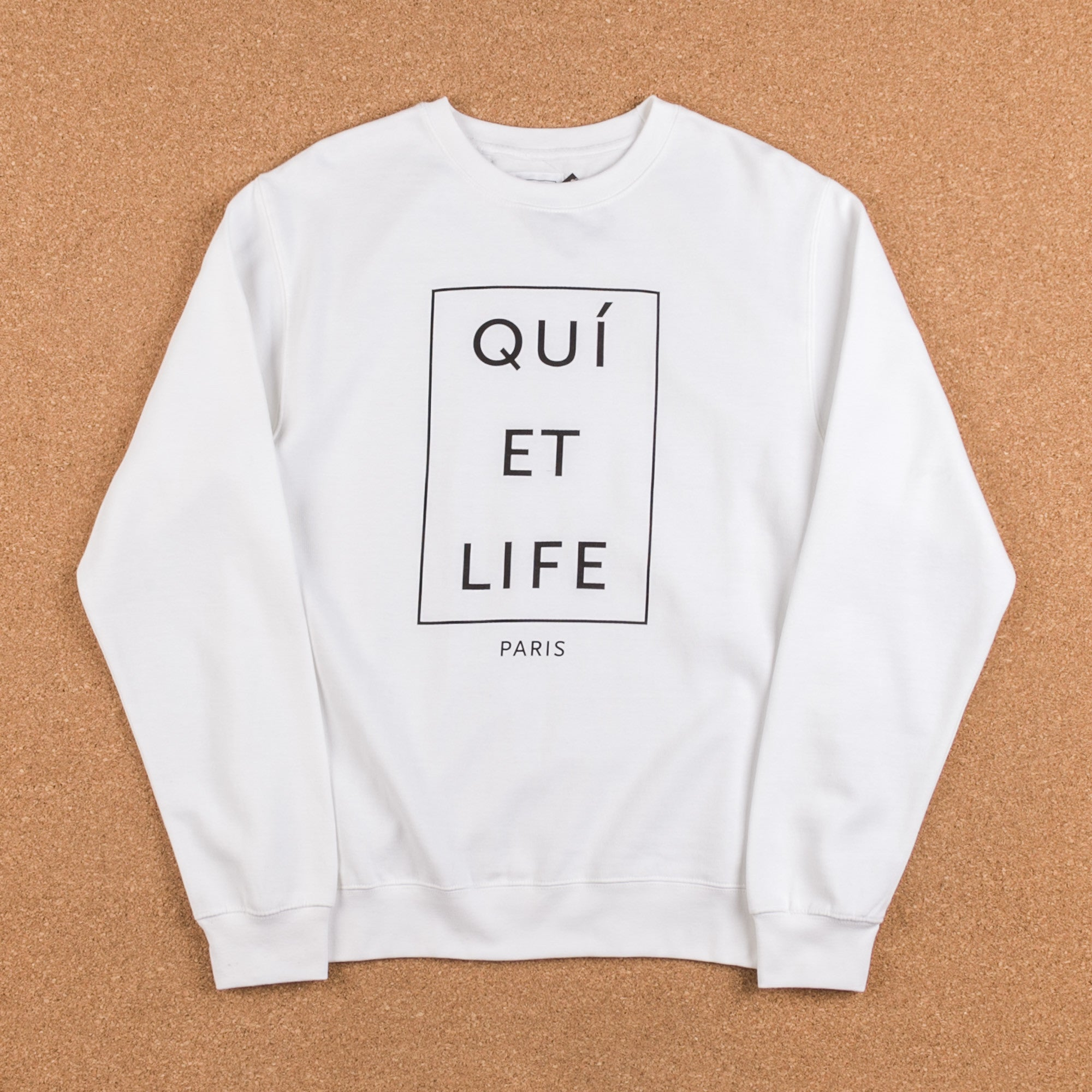 The Quiet Life Paris Crewneck Sweatshirt - White