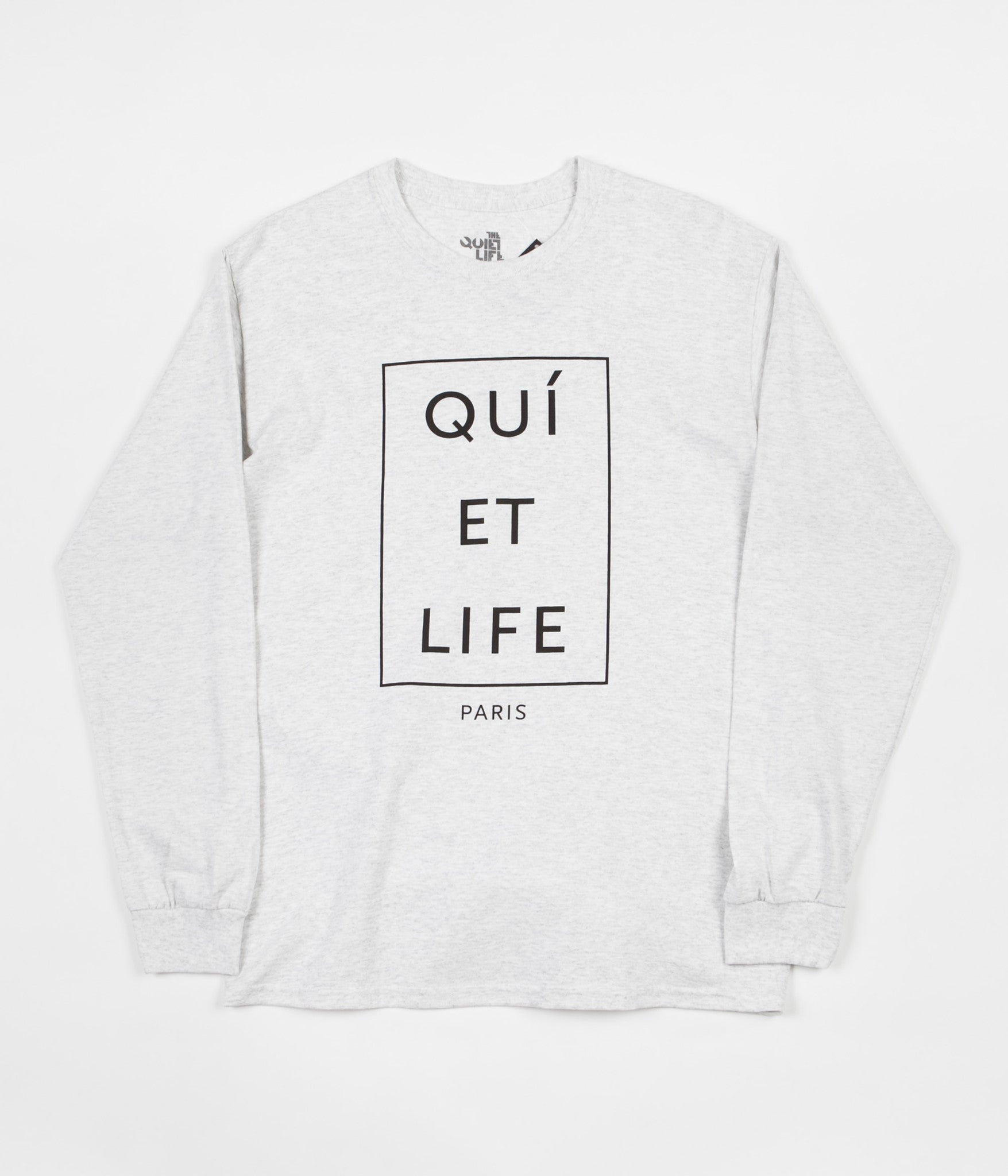 The Quiet Life Paris Long Sleeve T-Shirt - Ash Heather