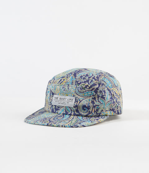 The Quiet Life Pastel Paisley 5 Panel Cap - Aqua