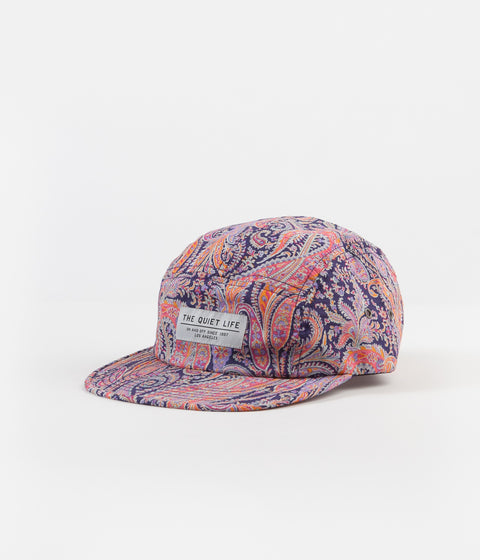 The Quiet Life Pastel Paisley 5 Panel Cap - Pink