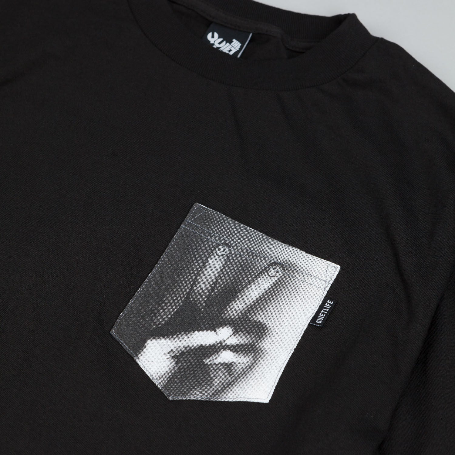 The Quiet Life Peace Photo Pocket T Shirt Black