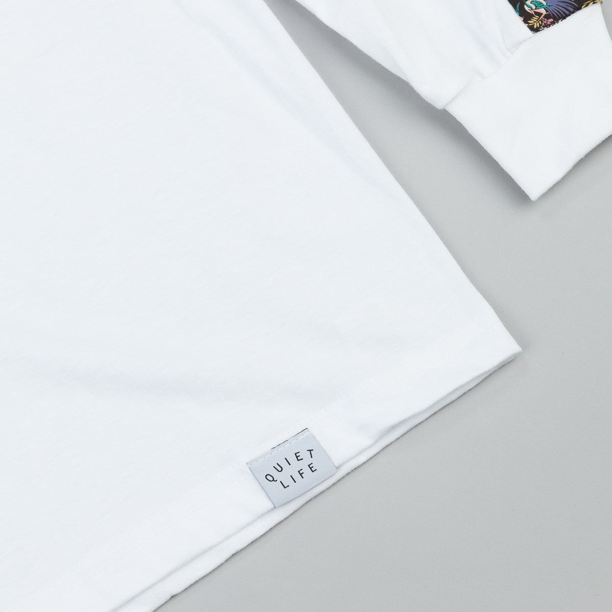 The Quiet Life Peony Long Sleeve T-Shirt - White