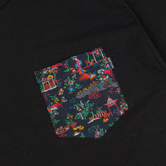 The Quiet Life Peony Pocket T-Shirt - Black