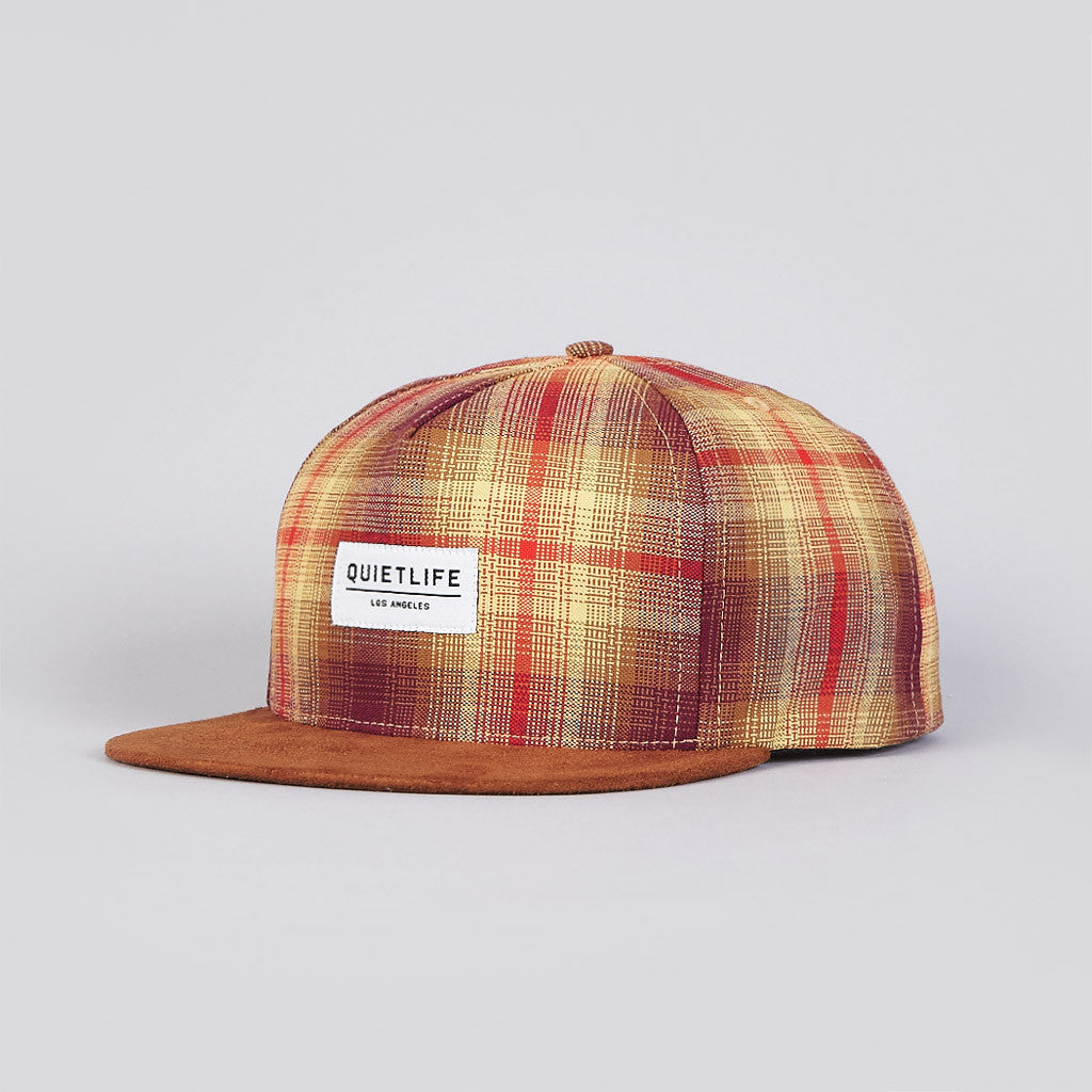 The Quiet Life Plaid Snapback Cap Plaid / Brown Suede