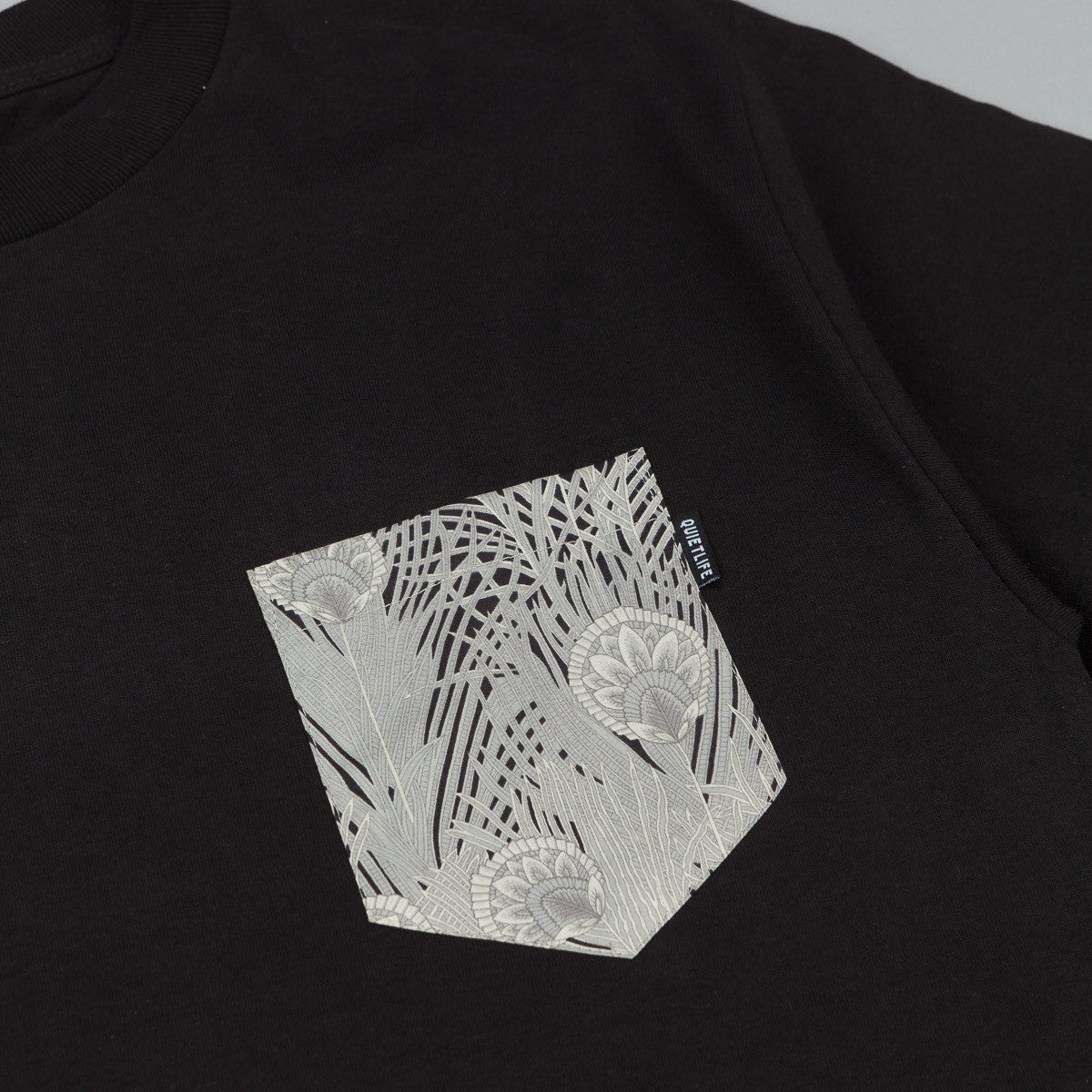 The Quiet Life Plant Pocket T-Shirt - Black