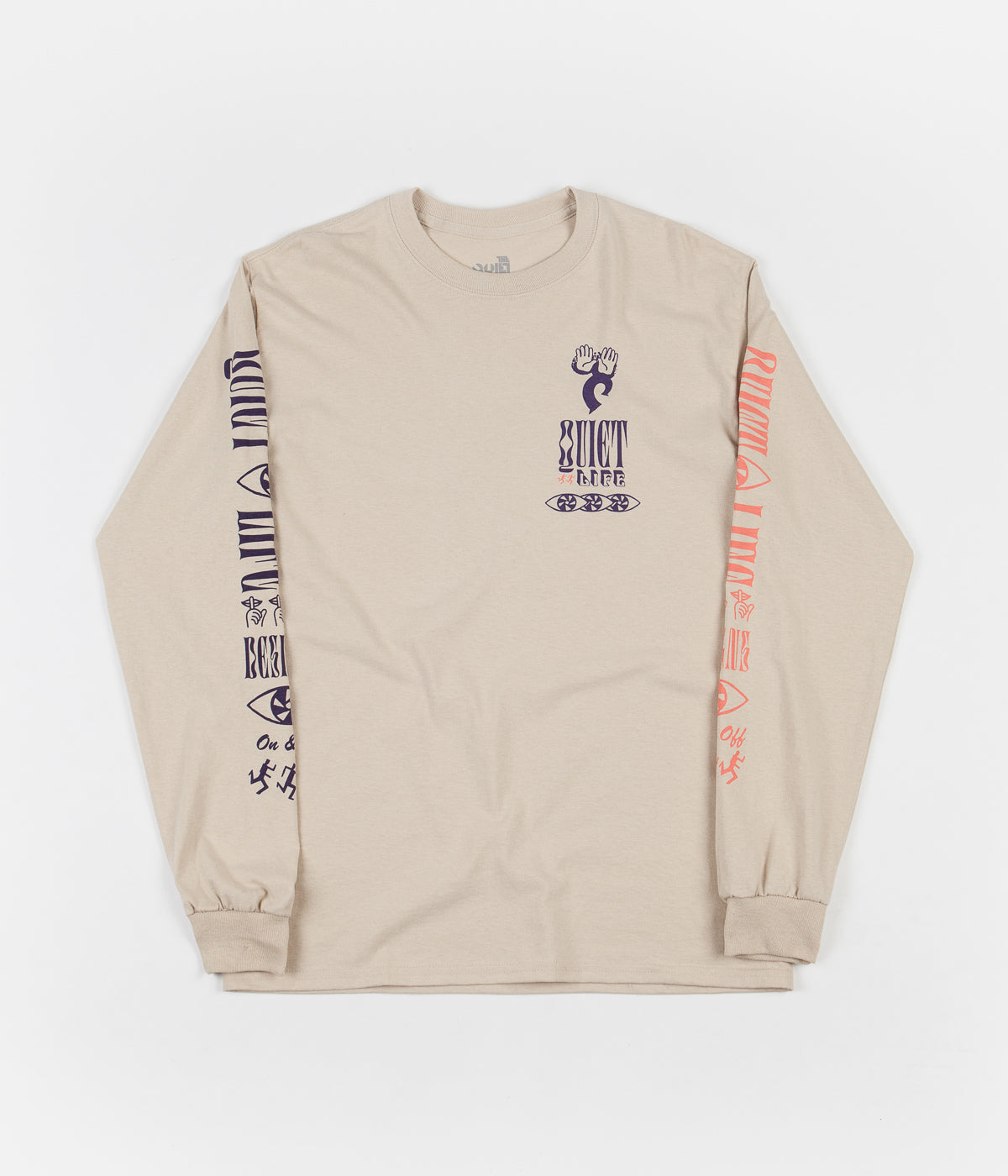 The Quiet Life Post Long Sleeve T-Shirt - Sand
