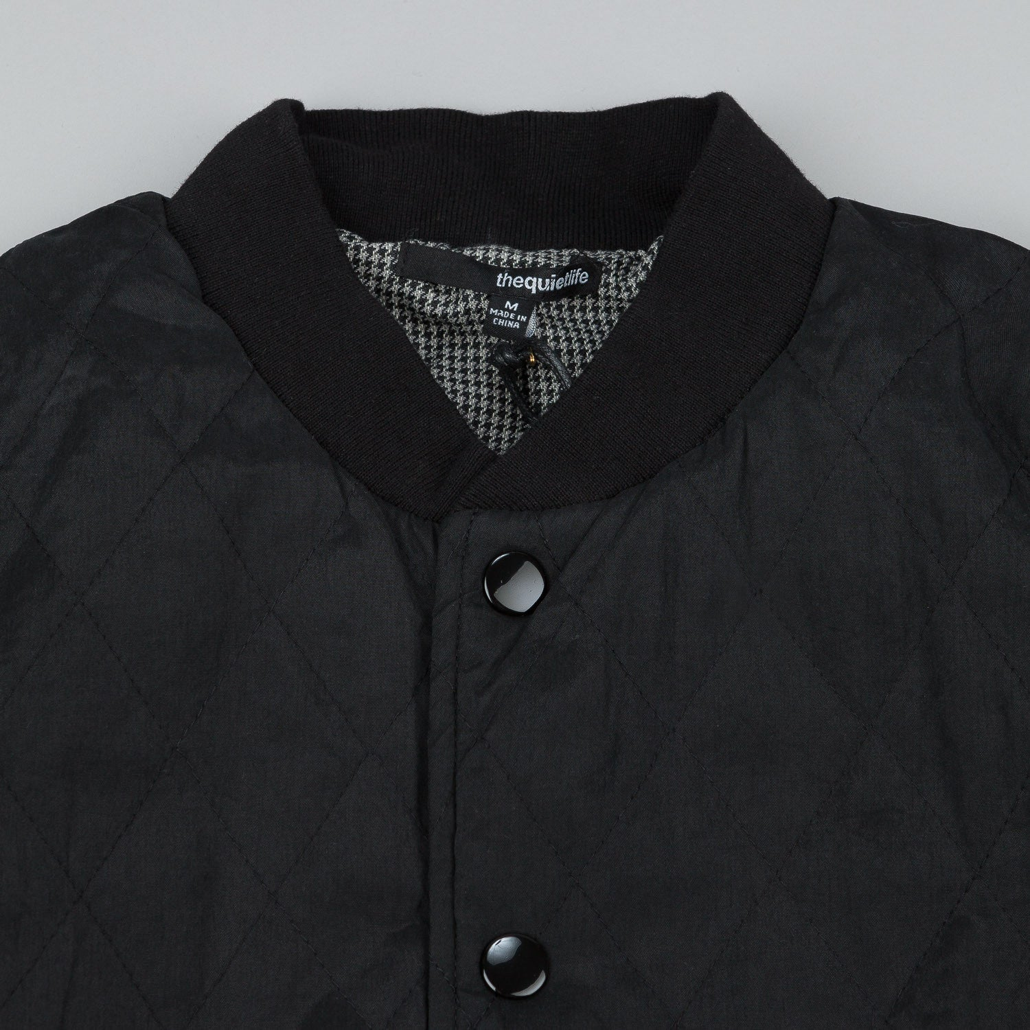 The Quiet Life Puffer Coach's Jacket - Black