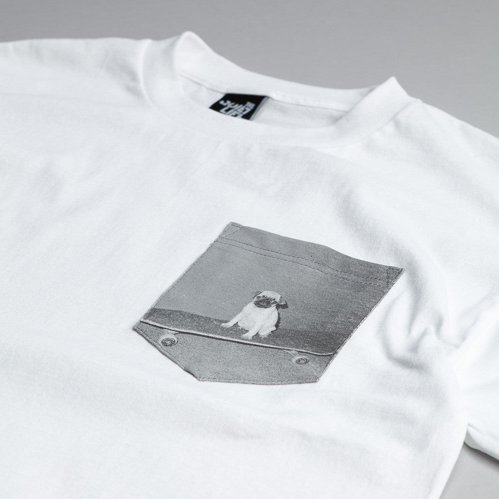 The Quiet Life Pug Pocket T Shirt White