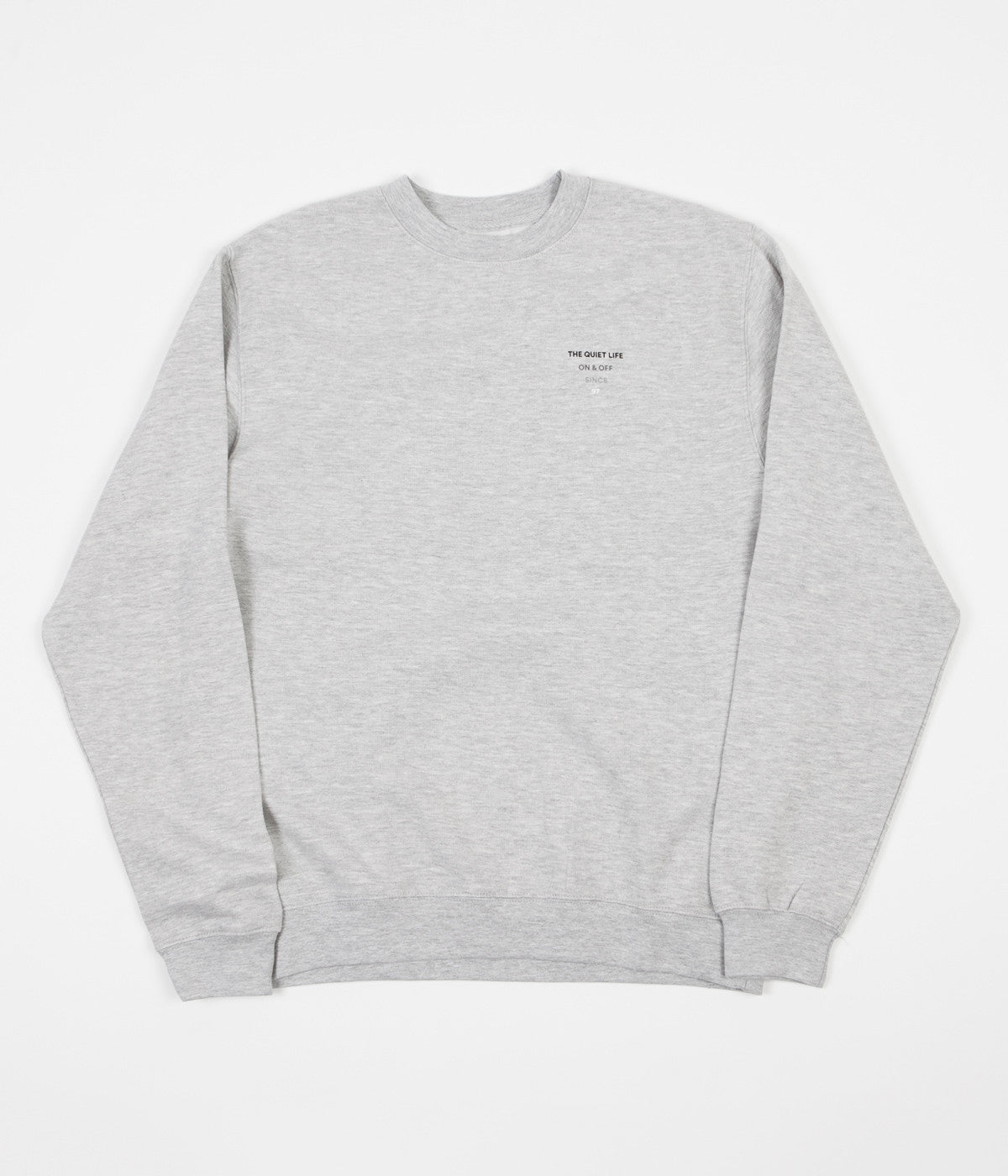 The Quiet Life Pyramid Logo Crewneck Sweatshirt - Heather Grey