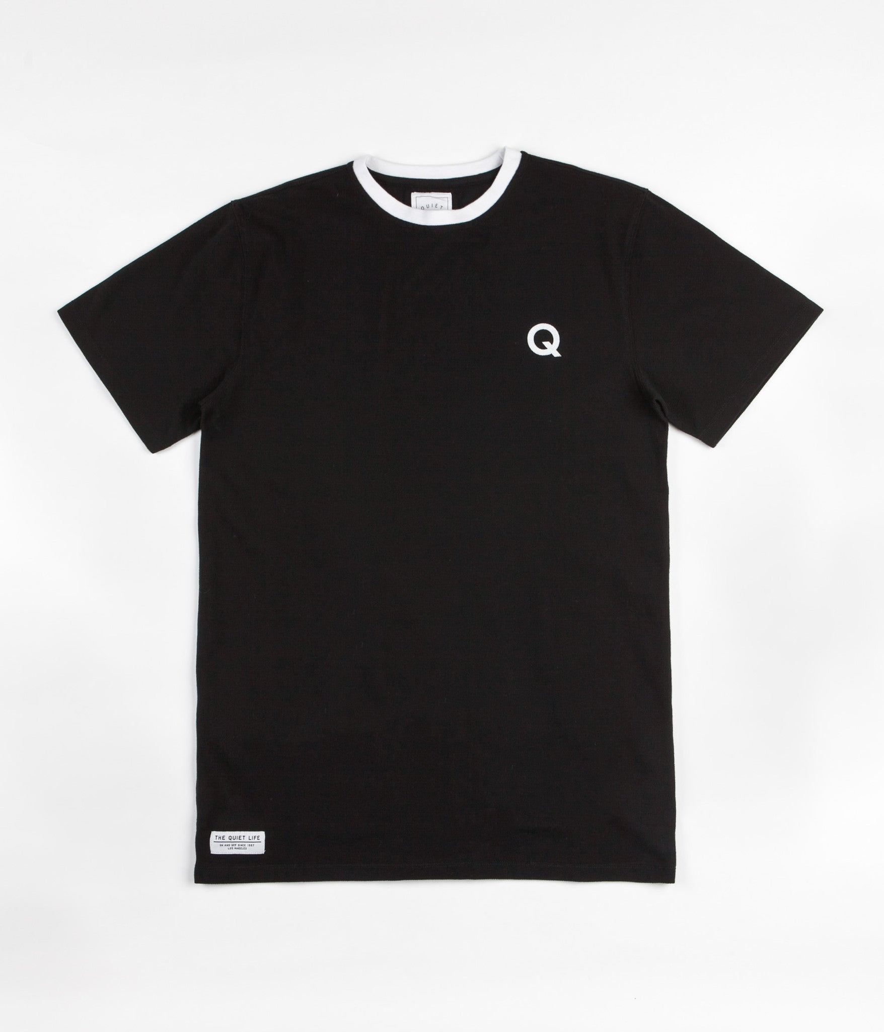 The Quiet Life Q Pique T-Shirt - Black