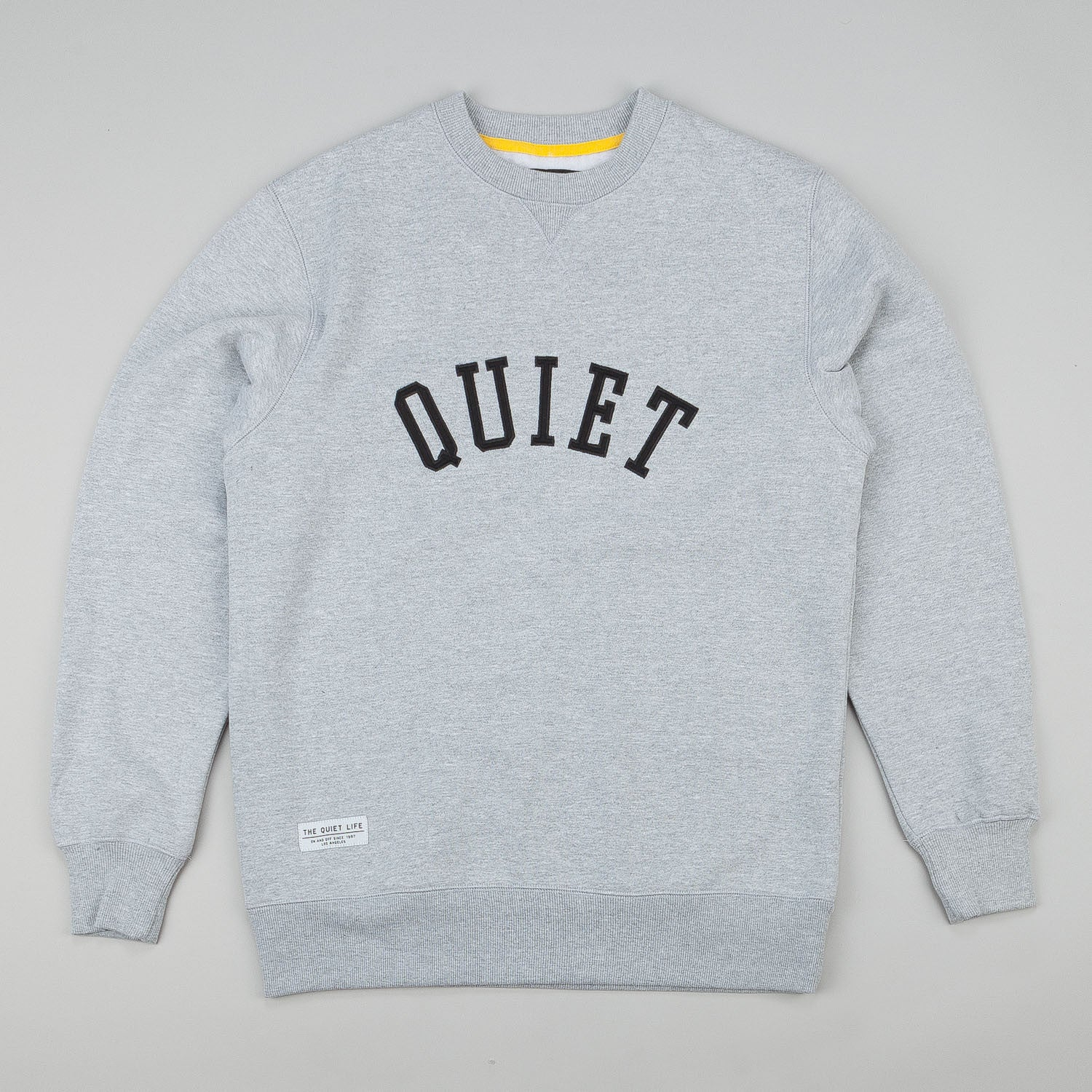 The Quiet Life Quiet Applique Crew Neck Sweatshirt - Heather Grey