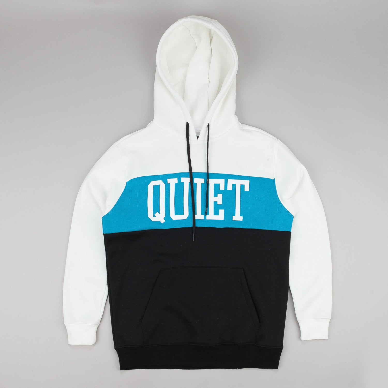 The Quiet Life Quiet Hooded Sweatshirt - White / Turquoise