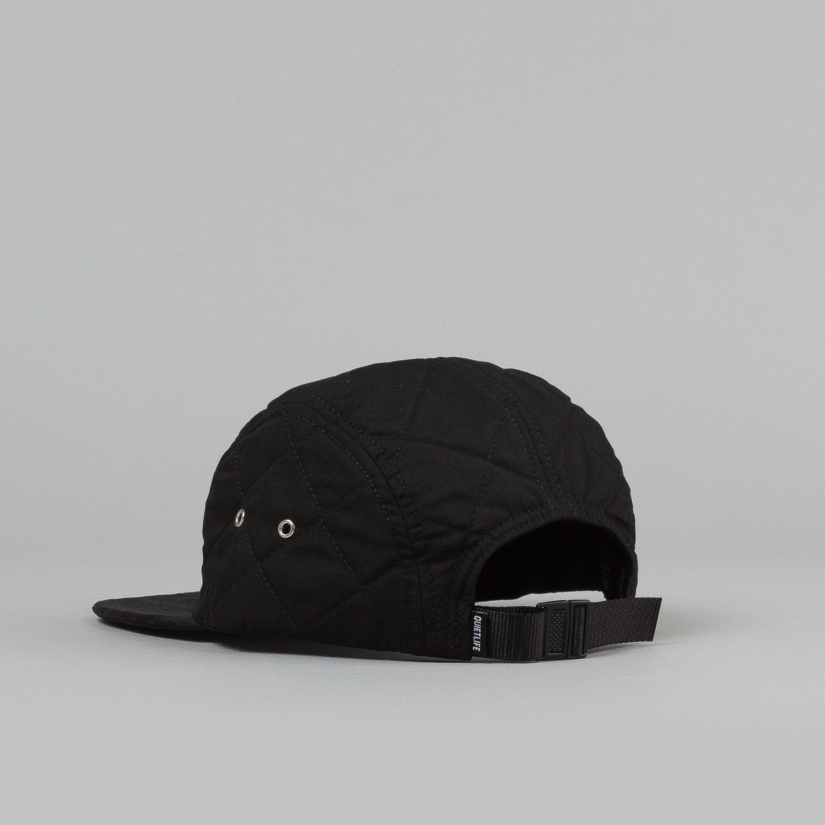 The Quiet Life Quilted 5 Panel Cap - Black