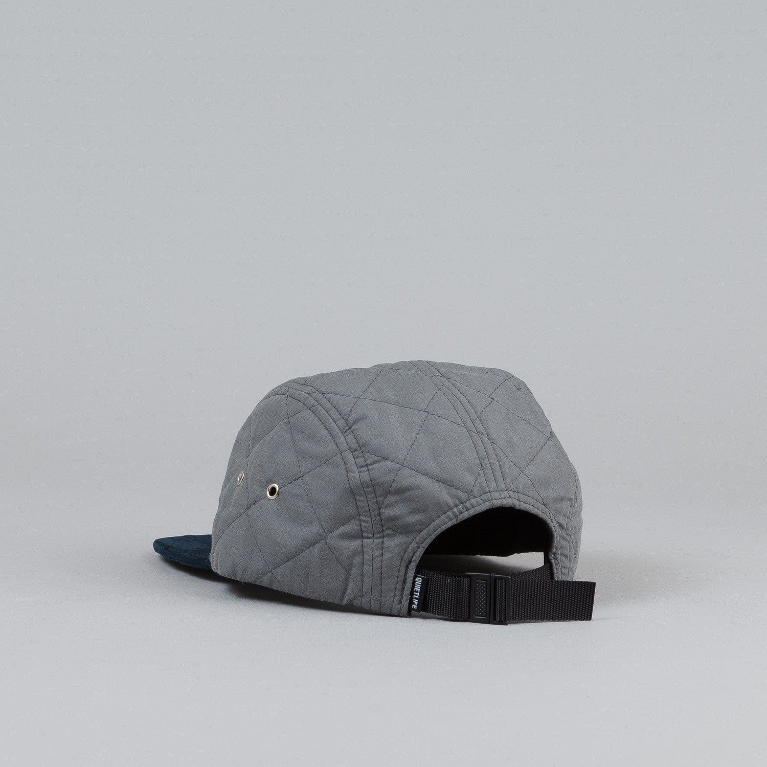 The Quiet Life Quilted 5 Panel Cap Grey
