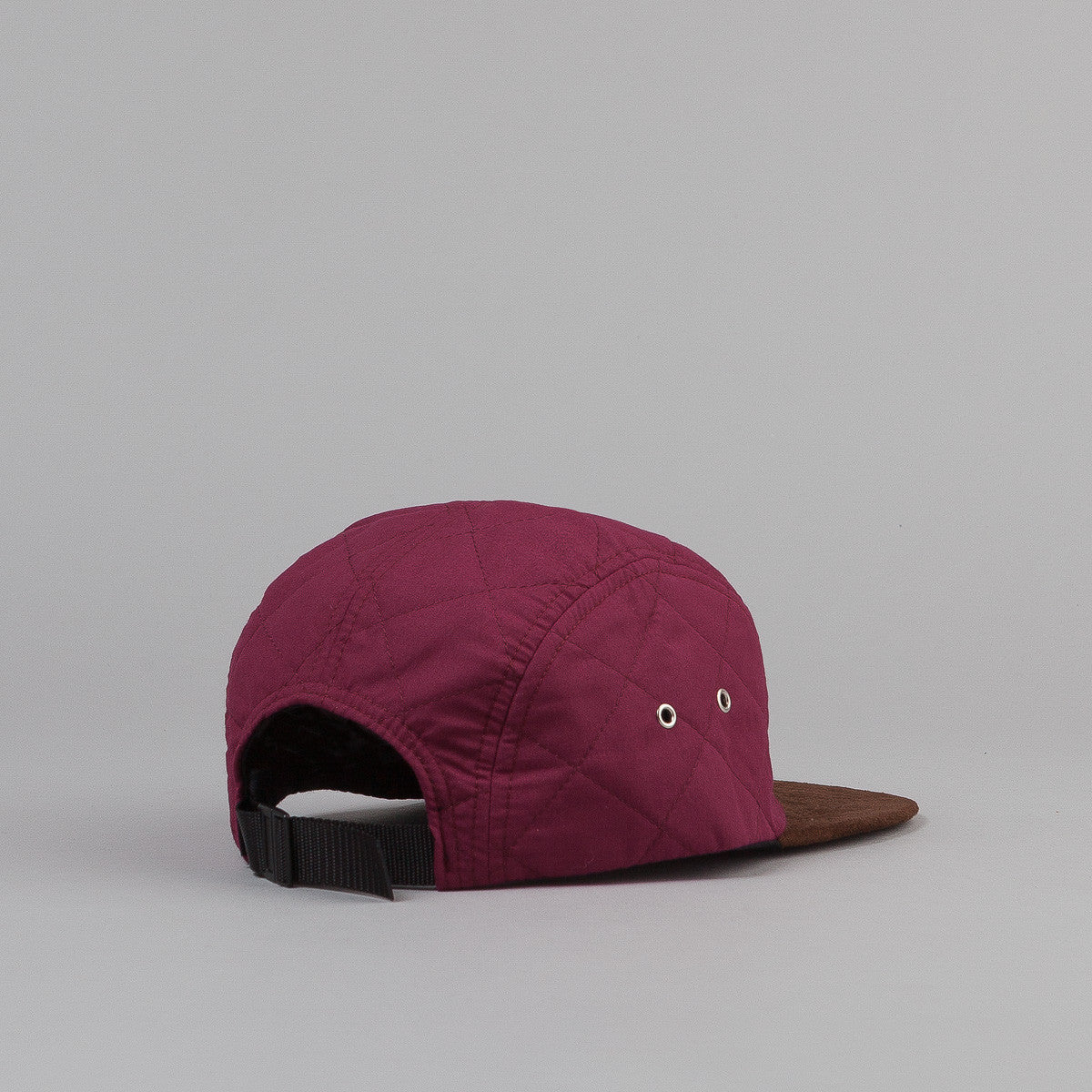 The Quiet Life Quilted 5 Panel Cap - Maroon