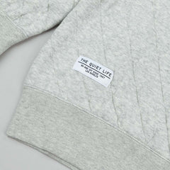 The Quiet Life Quilted Fleece Sweatshirt - Heather Grey