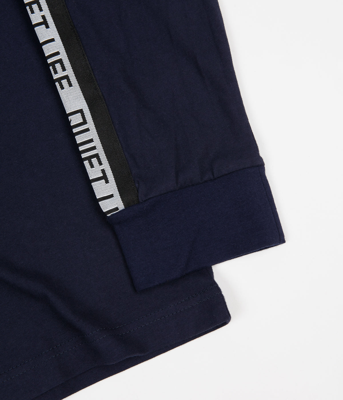 The Quiet Life Racing Stripe Long Sleeve T-Shirt - Navy