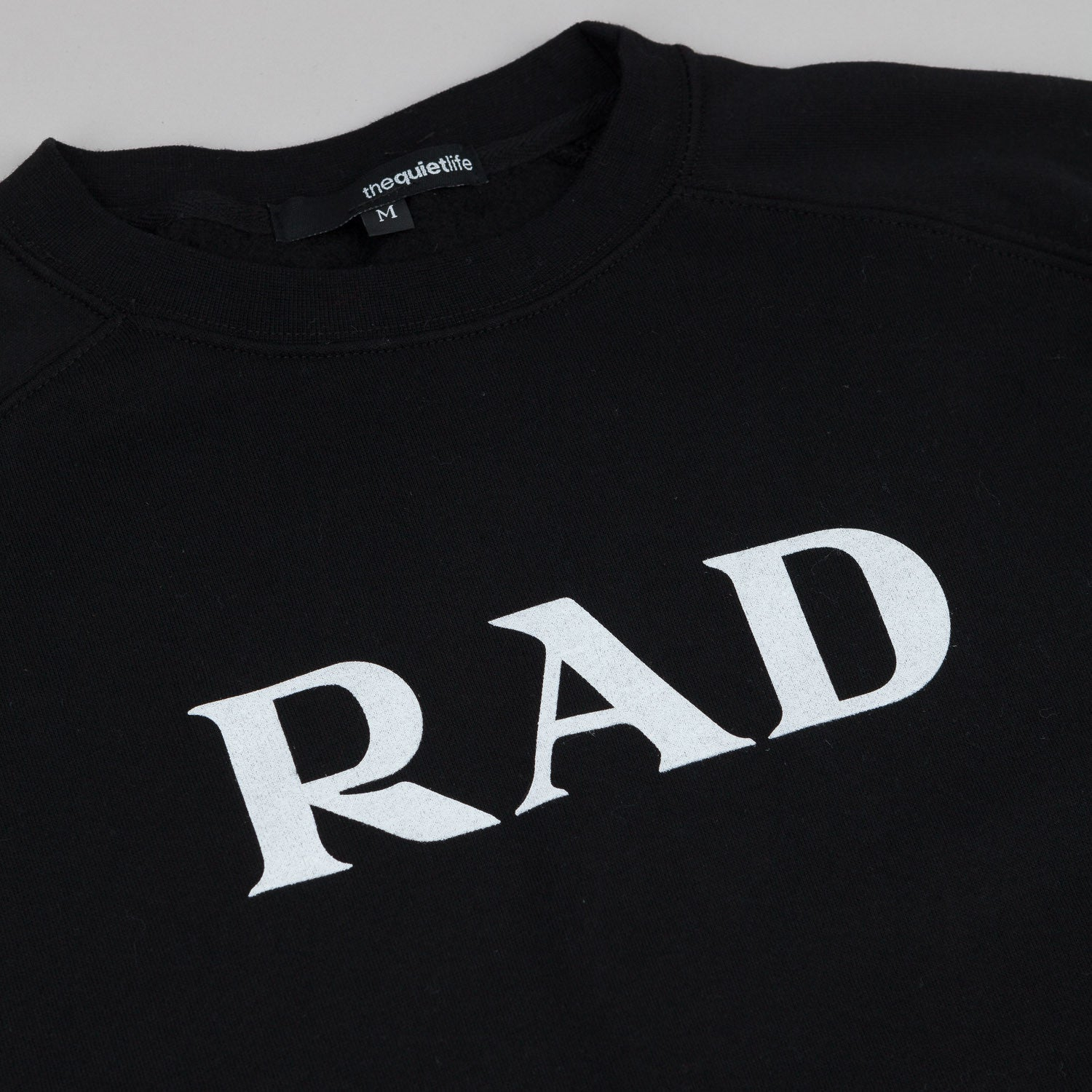 The Quiet Life Rad Crew Neck Sweatshirt - Black