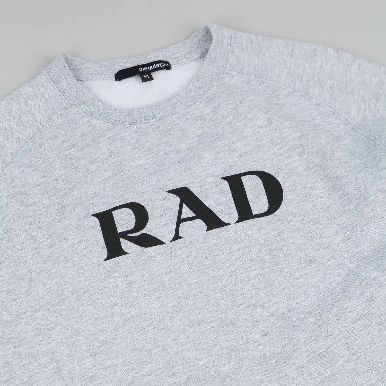The Quiet Life Rad Crew Neck Sweatshirt - Heather Grey