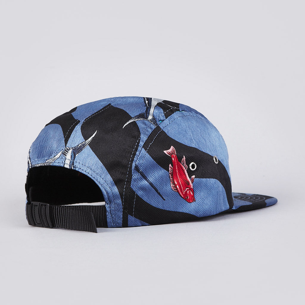 The Quiet Life Reel 5 Panel Cap Blue